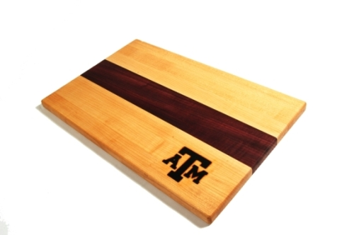 texas a&m maple cutting board