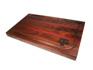 Texas A&M professional cutting board walnut