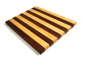 maple and walnut stripe cutting board